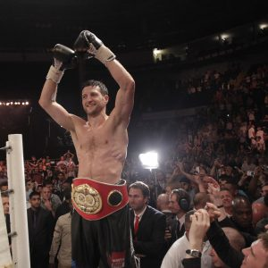 IBF WORLD SUPER-MIDDLEWEIGHT TITLE CAPITAL ARENA,NOTTINGHAM 26/5/12 PIC;LAWRENCE LUSTIG CARL FROCH V LUCIAN BUTE CARL FROCH  WINS
